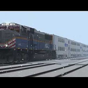 Metra SD70MACH 500 Westbound Chase Along BNSF Racetrack With NS and Amtrak Heritage Units! Train Sim - YouTube