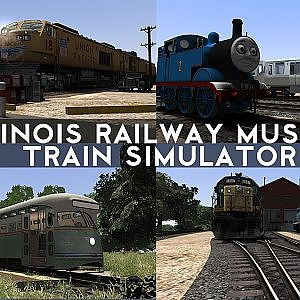 CBQ 504 Diesel Coach Train And Streetcars - Railfanning Illinois Railway Museum in Train Simulator - YouTube